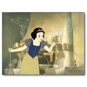 Disney Snow White Sweeping Up Hand Painted Cel