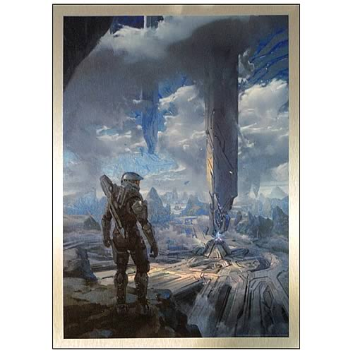 Halo 4 Master Chief Requiem Metallic Artwork Print