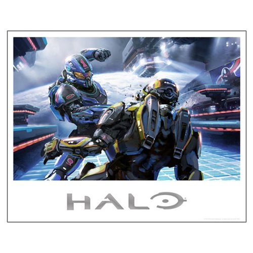 Halo 5 Title Bout Foil-Stamped Lithograph