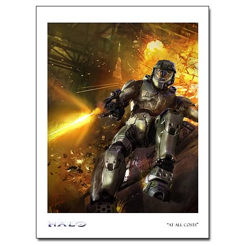 Halo At All Costs Paper Giclee Print