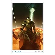 Halo Reach Fall of Reach Paper Giclee Print
