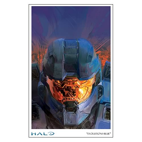 Halo Reach Evolutions Blue Paper Giclee Print