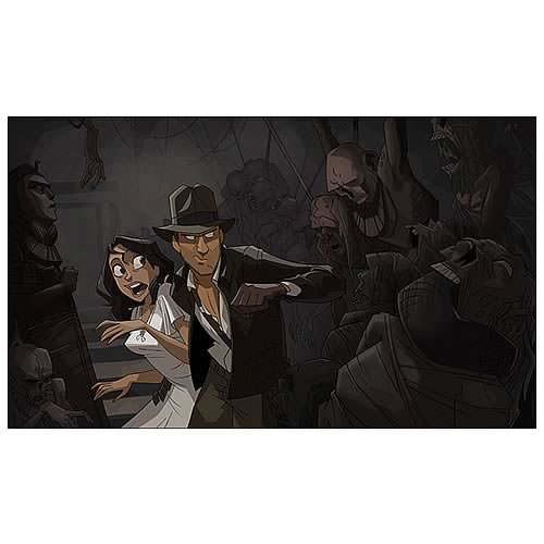 Indiana Jones Escaping the Tomb Small Giclee Print
