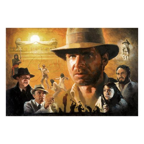 Indiana Jones Ark of the Covenant Canvas Giclee Art Print