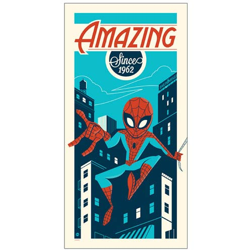 Spider-Man Amazing Since 1962 Silkscreen Print