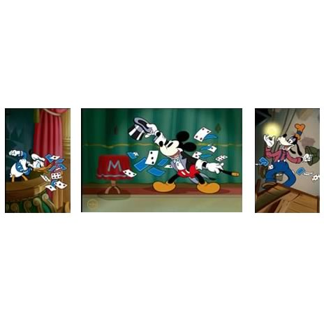 Disney Magician Mickey Mouse Sericel