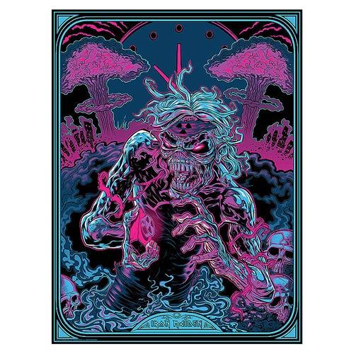 Iron Maiden 2 Minutes to Midnight Silk Screen Art Print