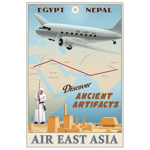 Indiana Jones Air East Asia Paper Giclee Print