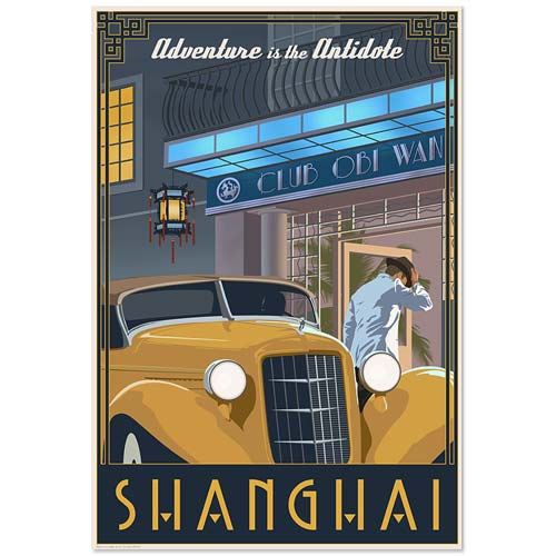 Indiana Jones Shanghai Adventure is the Antidote Paper Print
