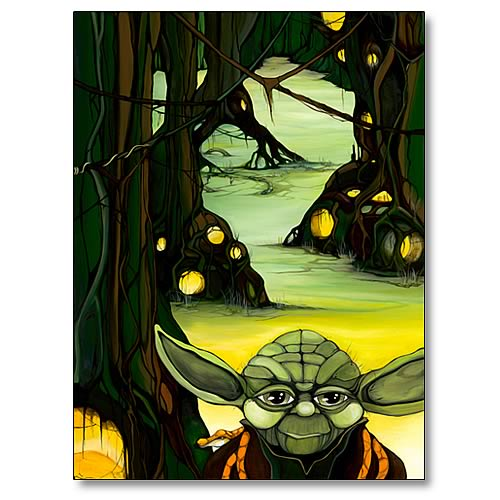 Star Wars Yoda Arrival Canvas Giclee Print