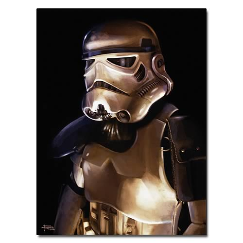 Star Wars Trooper Paper Giclee Print