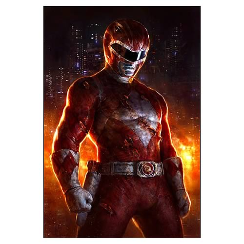 Mighty Morphin' Power Rangers Red Ranger Fine Art Lithograph