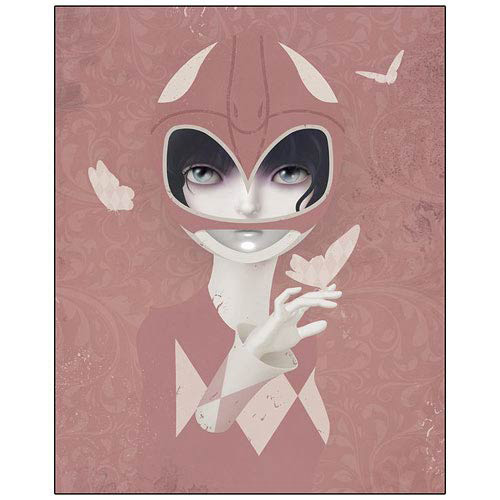 Power Rangers Pink Ranger Checkered Past Paper Giclee Print