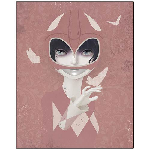 Power Rangers Pink Ranger Checkered Past Canvas Giclee Print