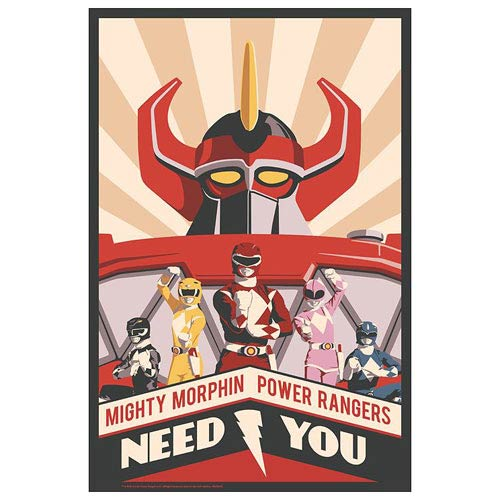 Mighty Morphin Power Rangers Need You Paper Giclee Print