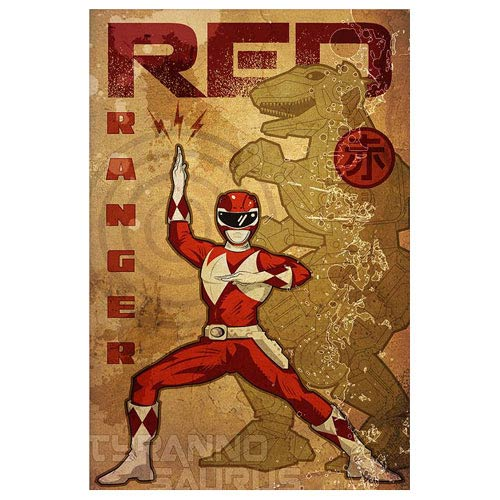 Power Rangers the Power of Red Canvas Giclee Print