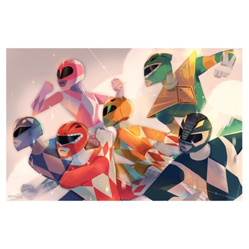 Power Rangers Charge Attack! Lithograph