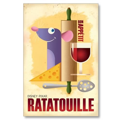 Ratatouille Bon Appetit Paper Giclee Print