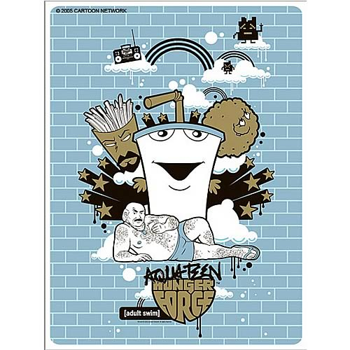 Aqua Teen Hunger Force Blue Brick Silkscreen Print