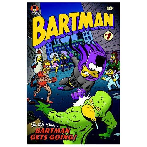 Simpsons Bartman #1 Comic Book Cover Paper Giclee Print