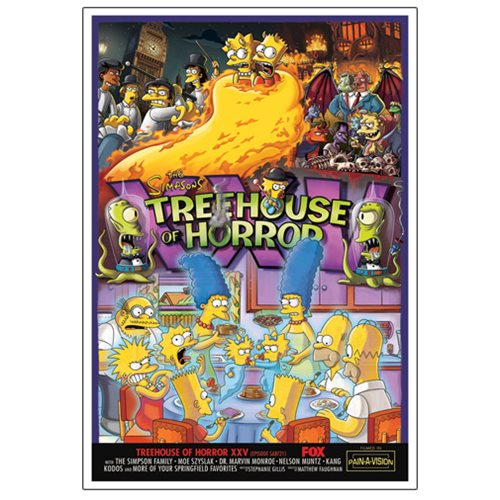 The Simpsons Treehouse of Horror XXV Canvas Giclee Print