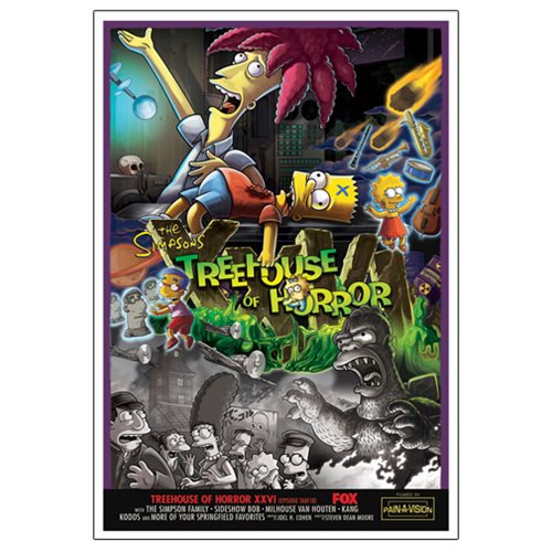 The Simpsons Treehouse of Horror XXVI Canvas Giclee Print