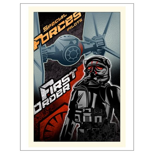 Star Wars: The Force Awakens First Order Paper Giclee Print