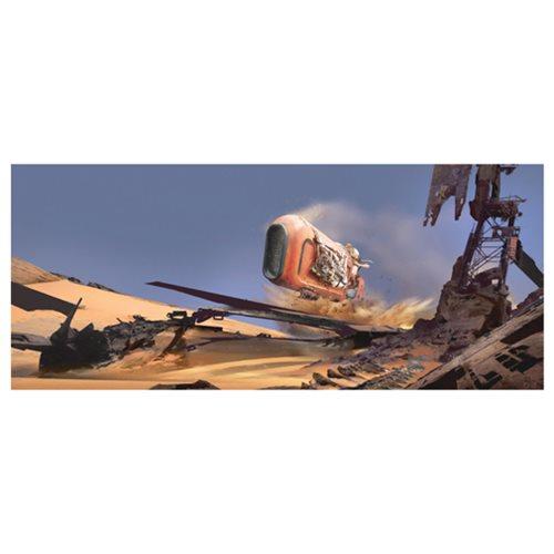 Star Wars: TFA Speeder Whip Canvas Giclee Art Print
