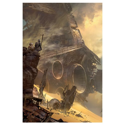 Star Wars: TFA TIE Fighter Down Canvas Giclee Art Print