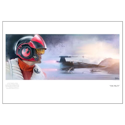 Star Wars: TFA The Pilot by Brian Rood Paper Giclee