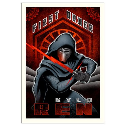 Star Wars: TFA First Order Ren Paper Giclee Art Print