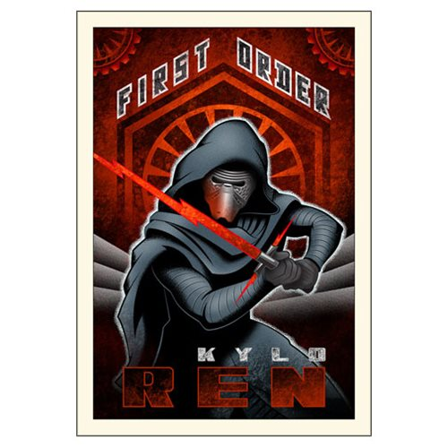 Star Wars: TFA First Order Ren Large Canvas Giclee Art Print