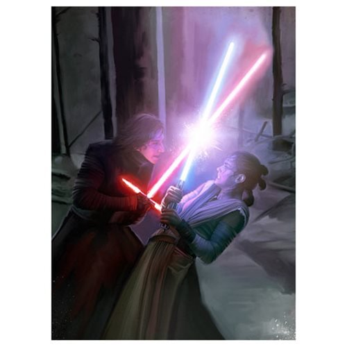 Star Wars: TFA Darkness, Light Canvas Giclee