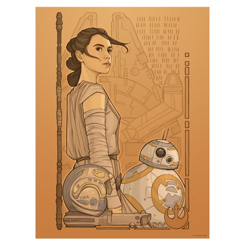 Star Wars TFA Beyond Jakku Lithograph Art Print