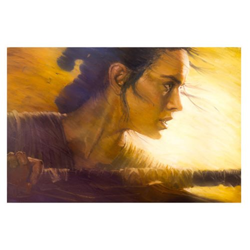 Star Wars: TFA Rey Canvas Giclee Art Print