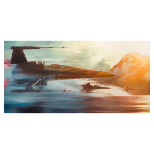 Star Wars: TFA X-Wings of Resistance Canvas Giclee Art Print