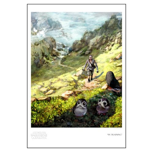 Star Wars In Training by Cliff Cramp Paper Giclee Art Print