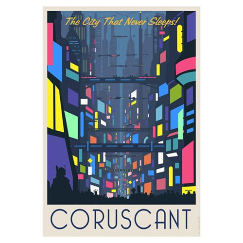 Star Wars Coruscant Nightlife Paper Giclee Art Print