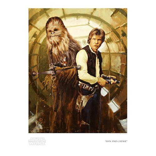 Star Wars Han and Chewie by Christopher Clark Paper Giclee