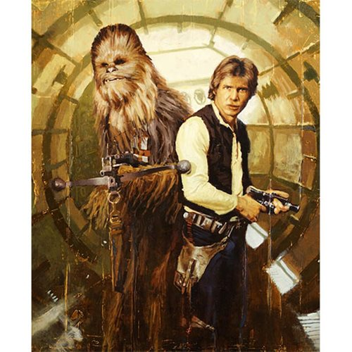Star Wars Han and Chewie by Christopher Clark Canvas Giclee