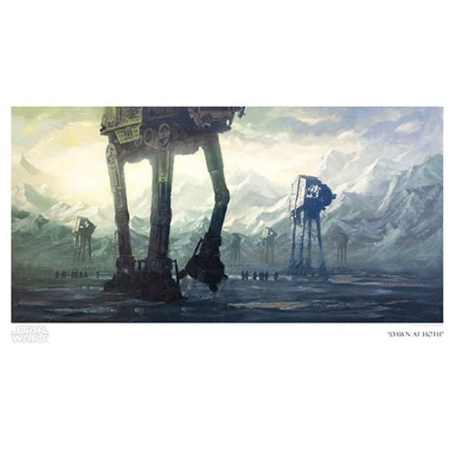 Star Wars Dawn at Hoth by Christopher Clark Paper Giclee Art Print