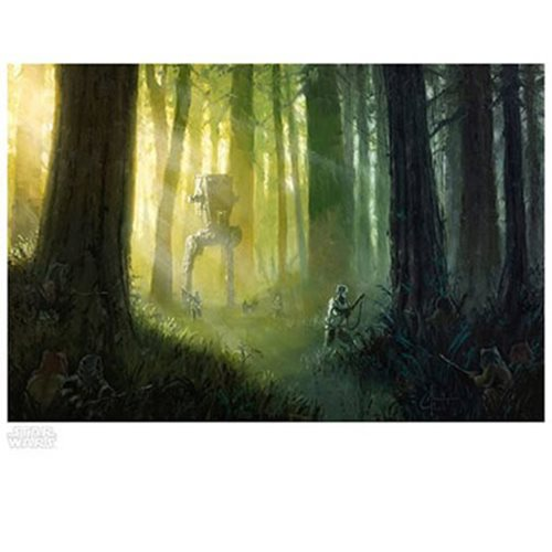 Star Wars Patrolling the Endor Moon Paper Giclee Art Print