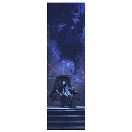 Star Wars A Master of Evil by Brent Woodside Lithograph