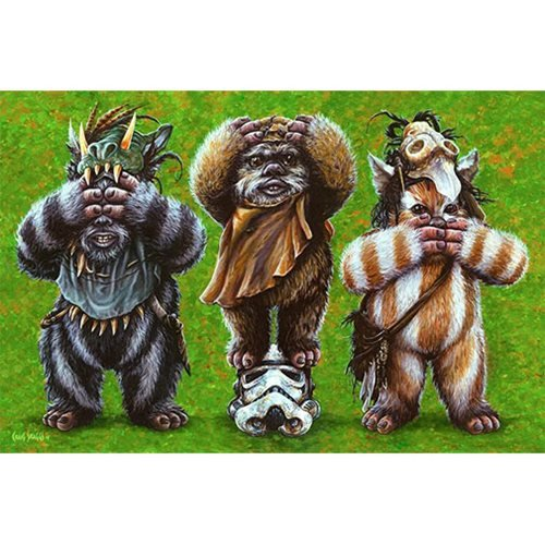 Star Wars Ewok No Evil by Craig Skaggs Lithograph Art Print