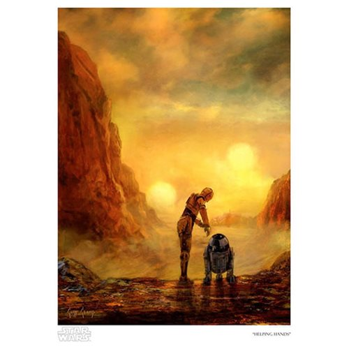 Star Wars Helping Hands by Cliff Cramp Paper Giclee Print
