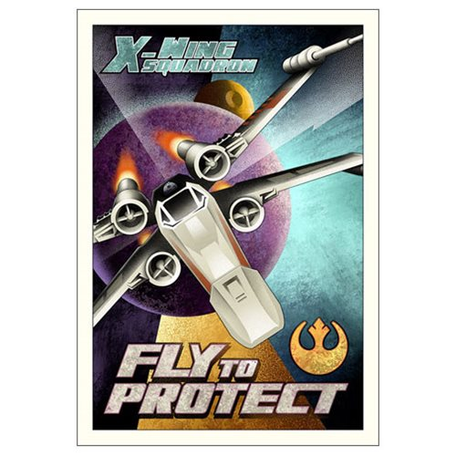 Star Wars Fly to Protect Small Canvas Giclee Art Print
