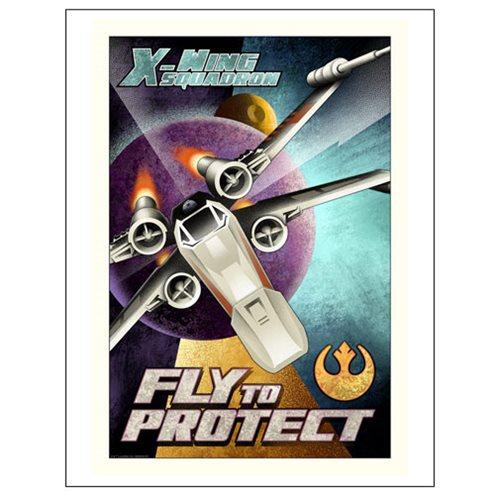Star Wars Fly to Protect Paper Giclee Art Print