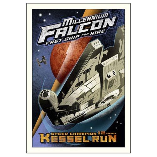Star Wars Kessel Run Small Canvas Giclee Art Print