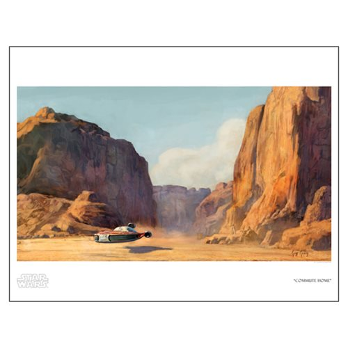 Star Wars Commute Home by Cliff Cramp Paper Giclee Art Print