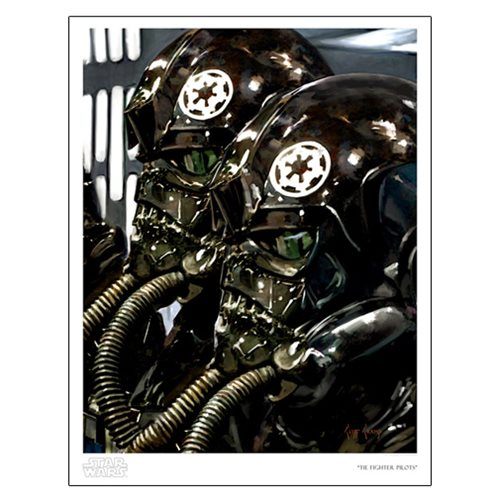 Star Wars TIE Fighter Pilots by Cliff Cramp Paper Print